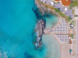 mare spiaggia dall'alto nicolaus club prime il gabbiano