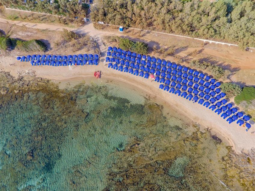 Vista aerea spiaggia Nicolaus Club Meditur Village